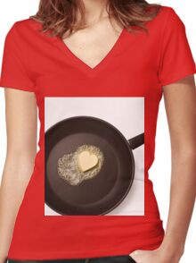 Cooking with love Women's Fitted V-Neck T-Shirt