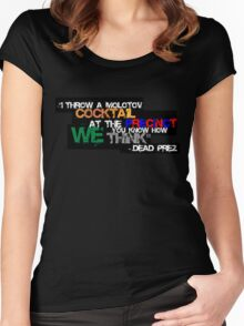 Police State- Dead Prez Women's Fitted Scoop T-Shirt