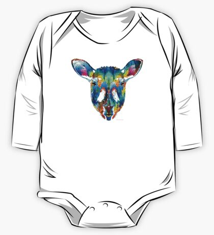 Colorful Sheep Art - Shear Color - By Sharon Cummings One Piece - Long Sleeve