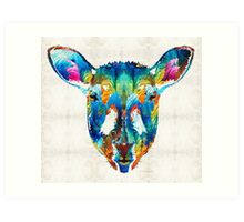 Colorful Sheep Art - Shear Color - By Sharon Cummings Art Print