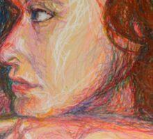 Self Portrait In Profile Sticker