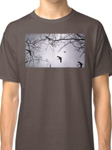 Flying Backlit Sandhill Crane (Grus canadensis) Classic T-Shirt