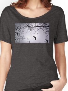 Flying Backlit Sandhill Crane (Grus canadensis) Women's Relaxed Fit T-Shirt