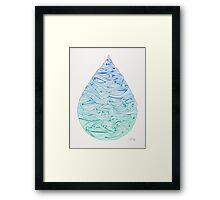 Water Drop – Blue Ombré Framed Print
