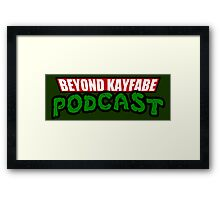 Beyond Kayfabe Podcast - Turtle Power! Framed Print
