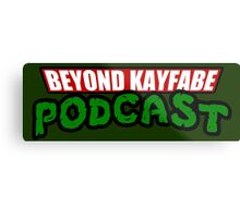 Beyond Kayfabe Podcast - Turtle Power! Metal Print