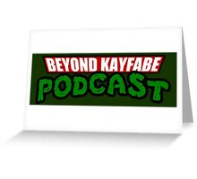 Beyond Kayfabe Podcast - Turtle Power! Greeting Card