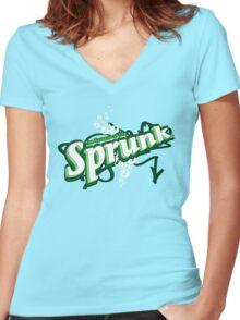 Sprunk Logo - GTA5 Women's Fitted V-Neck T-Shirt