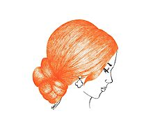 Orange Hair Girl Prom Style Photographic Print