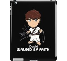 Walked by Faith (David) *WHITE TEXT* iPad Case/Skin