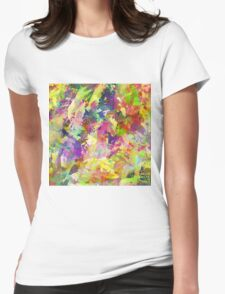 Floral Haze Womens Fitted T-Shirt
