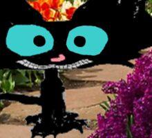 Black Cat At A Garden Sticker