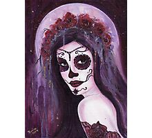 Haunted moon day of the dead art by Renee Lavoie Photographic Print