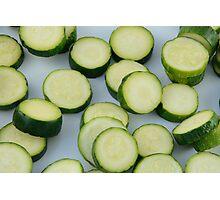 Sliced zucchini Photographic Print