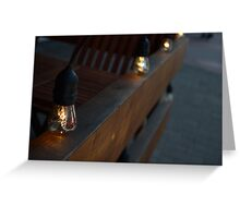 Light Bulbs Greeting Card
