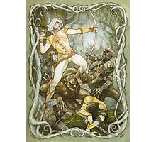 Elves & Orcs, the Battle Under the Trees Photographic Print