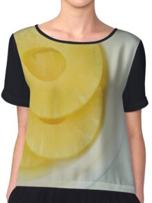 Pineapple slices Chiffon Top