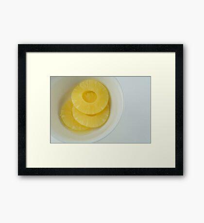 Pineapple slices Framed Print