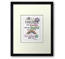 """Beautiful As Seemed""  Framed Print"