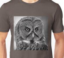 BW Great Grey Owl Unisex T-Shirt