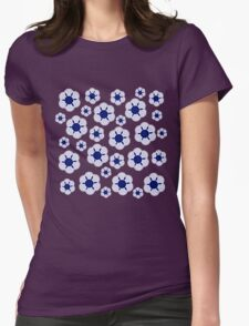 Blue Daisies Womens Fitted T-Shirt