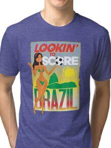 Looking to score Brazil Tri-blend T-Shirt