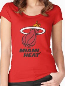 Miami Heat Women's Fitted Scoop T-Shirt