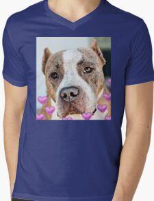 Pit Bull Dog - Pure Love Mens V-Neck T-Shirt