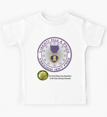 Army Remembers (light colors) Kids Tee