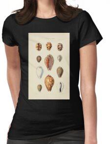 Thesaurus conchyliorum Monographs of genera of shells George Brettingham Sowerby 1887 V1-V5 410 Womens Fitted T-Shirt
