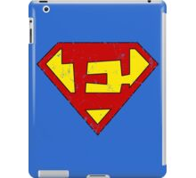 Superman E Letter iPad Case/Skin