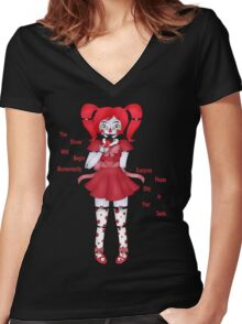 FNAF Sister Location Baby Women's Fitted V-Neck T-Shirt