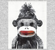 Sock Monkey Art In Black White And Red - By Sharon Cummings Kids Tee