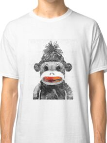 Sock Monkey Art In Black White And Red - By Sharon Cummings Classic T-Shirt