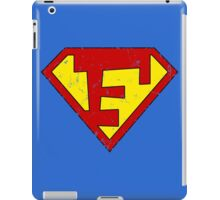 Superman F Letter iPad Case/Skin