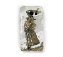 Winslow Homer - Shepherdess And Sheep Samsung Galaxy Case/Skin
