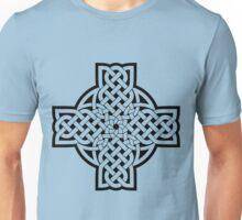 White Celtic Cross Unisex T-Shirt