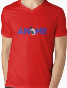 Anime Shirt Mens V-Neck T-Shirt