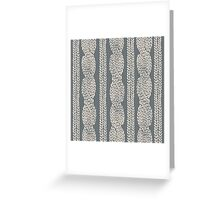 Cable Row Grey Greeting Card