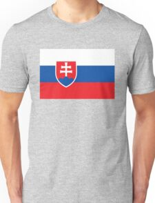 Flag of Slovakia - Authentic high quality version Unisex T-Shirt
