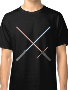 Kylo Ren and Rey Lightsabers Classic T-Shirt