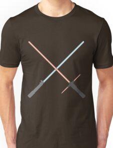 Kylo Ren and Rey Lightsabers Unisex T-Shirt