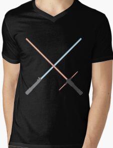 Kylo Ren and Rey Lightsabers Mens V-Neck T-Shirt