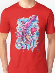 CUTE SQUID BUNNY LOVE - Watercolor T shirts + More! T-Shirt