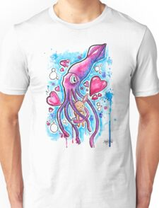 CUTE SQUID BUNNY LOVE - Watercolor T shirts + More! Unisex T-Shirt