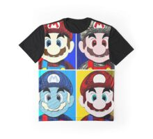Faces of mario Graphic T-Shirt