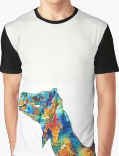 Colorful Camel Art by Sharon Cummings Graphic T-Shirt