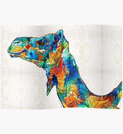 Colorful Camel Art by Sharon Cummings Poster