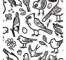Bird Doodle Photographic Print