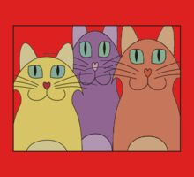 3 Cats One Piece - Short Sleeve